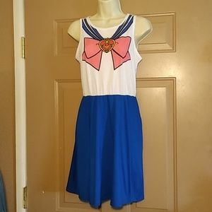 NWT HOT TOPIC SAILOR MOON A-LINE DRESS-SIZE SMALL